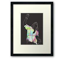 harry styles digital sketch Framed Print