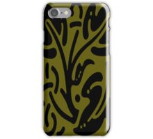 Gold & Black Abstract iPhone Case/Skin