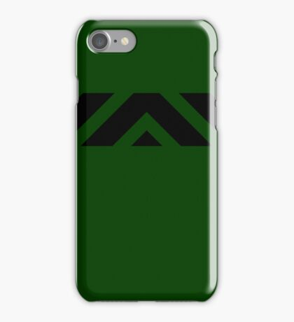 Green & Black Abstract iPhone Case/Skin