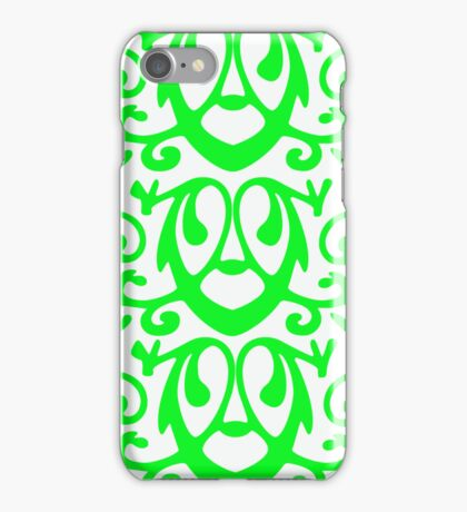 Green & White Abstract iPhone Case/Skin