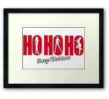 HO HO HO - MERRY CHRISTMAS  Framed Print