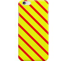 Red & Yellow Diagonal iPhone Case/Skin