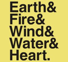 Earth&Fire&Wind&Water&Heart (Black) by BiggStankDogg