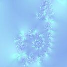 Blue Flutterbye Spiral by Objowl
