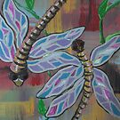 double dragonflies by Dawn  Hawkins