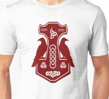 Dark Red Thor's Hammer Unisex T-Shirt