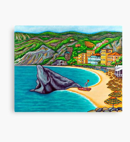 Colours of Monterosso Canvas Print