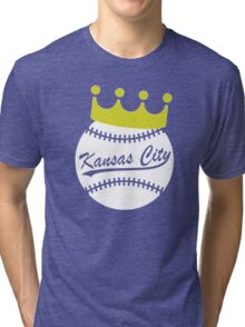 KC Crown Town - Baseball Tri-blend T-Shirt