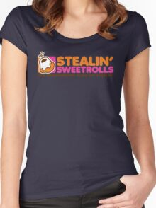 Stealin' Sweetrolls Women's Fitted Scoop T-Shirt