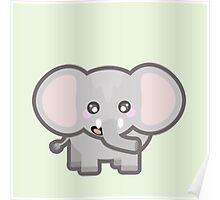 Kawaii Elephant Poster