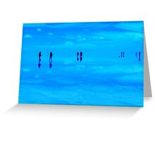 Turquoise Salar de Uyuni Reflection, Bolivia Greeting Card