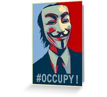 #OCCUPY! Greeting Card