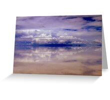 Heavenly bodies floating on the colourful Salar de Uyuni, Bolivia Greeting Card