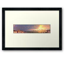 Sunset -Panorama  Framed Print
