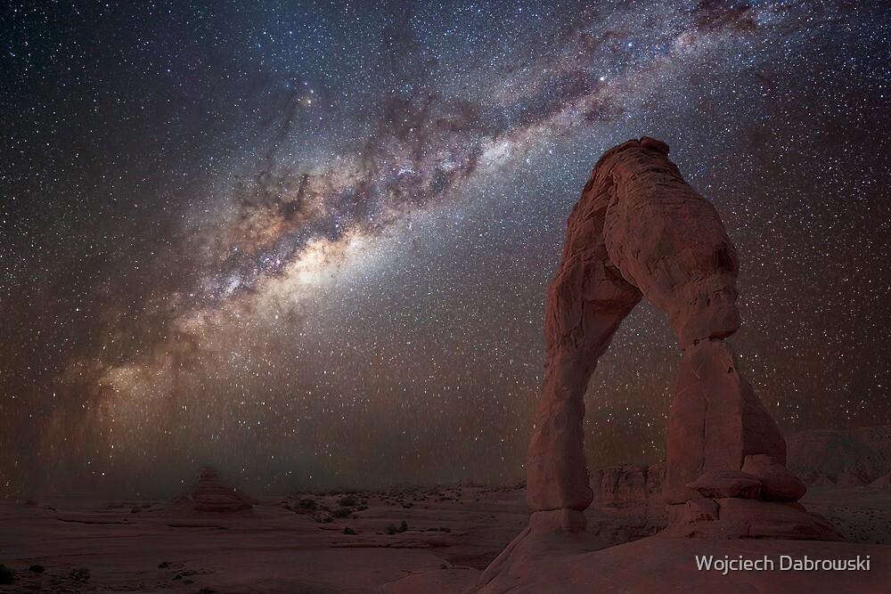 The night sky at Delicate Arch by Wojciech Dabrowski