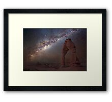 The night sky at Delicate Arch Framed Print