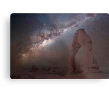 The night sky at Delicate Arch Metal Print