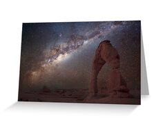 The night sky at Delicate Arch Greeting Card