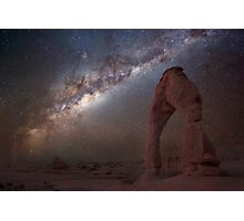 The night sky at Delicate Arch Photographic Print