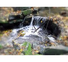 Flowing Water Photographic Print