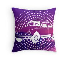 Purple Pop Art Beetle Mountain Throw Pillow