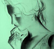 preoccupied frown original sketch  by tejas karay