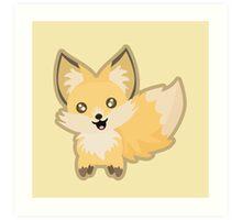 Kawaii Fox Art Print