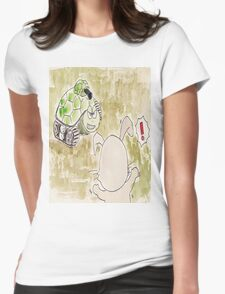 The Hare and the Tortoise - La Fontaine Womens Fitted T-Shirt