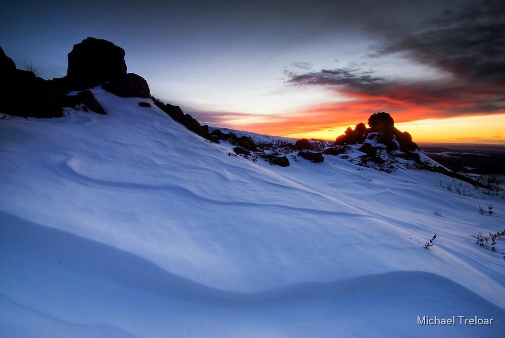 Double Pinnacle Sunset by Michael Treloar