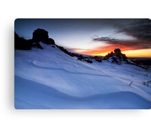 Double Pinnacle Sunset Canvas Print