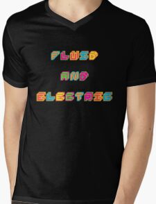 Fluid and Electric Mens V-Neck T-Shirt