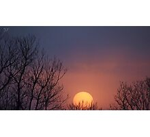 Big Peachy Sunset in Oklahoma Photographic Print