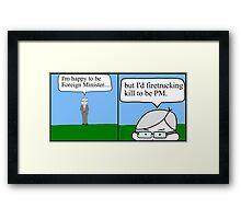Kevin Rudd leadership challenge. Framed Print
