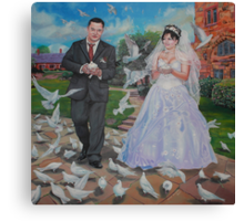 """""""Love and doves"""" Canvas Print"""