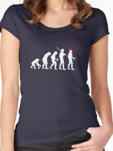 Evolution of the Time Lord Women's Fitted Scoop T-Shirt