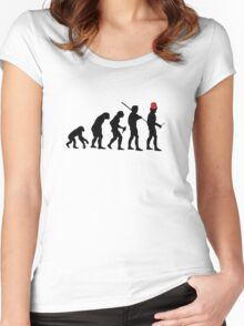 Evolution of the Time Lord - Light Colors Women's Fitted Scoop T-Shirt