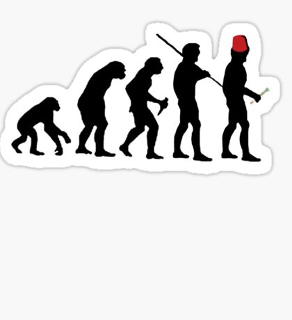 Evolution of the Time Lord - Light Colors Sticker
