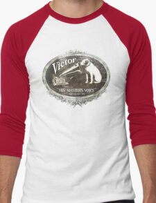 His Master's Voice Men's Baseball ¾ T-Shirt