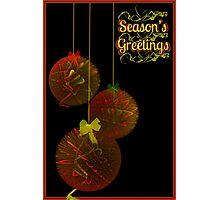 Christmas Tinsel Balls Card Photographic Print