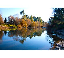 Autumn reclection in the river Photographic Print