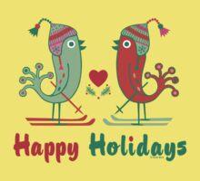 Ski Birds Happy Holidays Kids Clothes