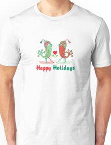 Ski Birds Happy Holidays T-Shirt