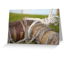A cord of three strands is not quickly broken Greeting Card