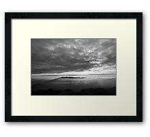 Landscape b&w Framed Print