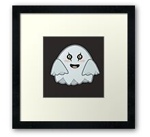 Kawaii Ghost Framed Print