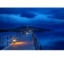 The sound of silence at Prespes lakes Photographic Print