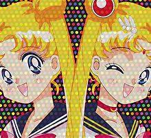 Sailor Moon VS Usagi Tsukino  by Rickykun