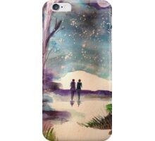 A walk in the Moonlight iPhone Case/Skin