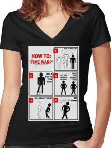 Rocky Horror Picture Show Time Warp Women's Fitted V-Neck T-Shirt