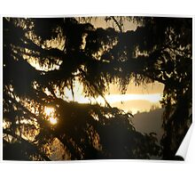 Kelowna Mountain Sunset Poster